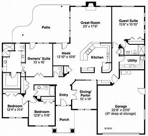 Ranch Style House Plan 59431 with 4 Bed, 4 Bath, 2 Car ...