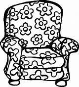 Coloring Chair Pages Colouring Furniture Armchair Clipart Fat Printable Chairs Cats Coloringbookfun Cat Offbeat Books Floral Stuff Webstockreview sketch template