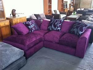 20 inspirations velvet purple sofas sofa ideas for Modern purple sectional sofa