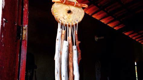 pretty wooden wind chimes diy home tutorial