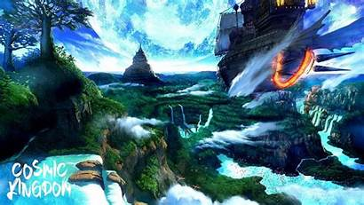 Fantasy Waterfall Nature Landscape Thefatrat Backgrounds Wallpapers