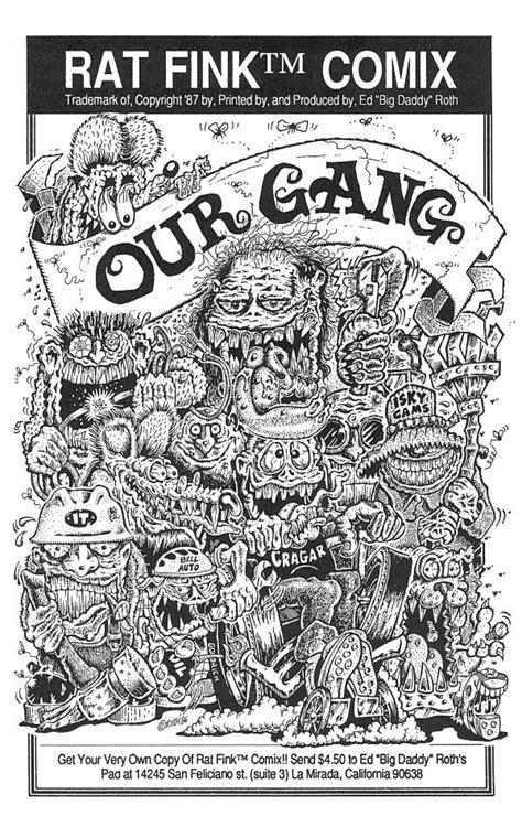 rat fink comix  gang  ed big daddy roth comic books