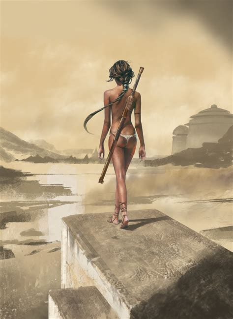 incredibly cool fantasy warrior art  david seguin