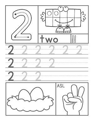 number 2 worksheets for preschoolers preschool number worksheets 708