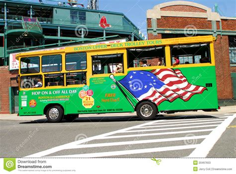 boston deck trolley tours map boston deck trolley tours editorial stock photo