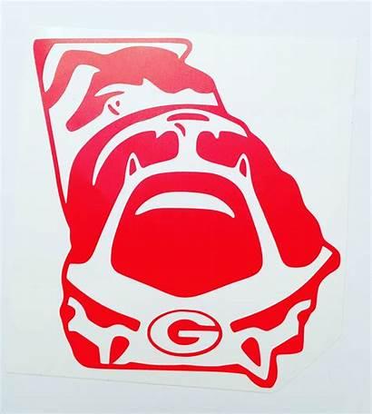 Georgia Bulldogs Decal Vinyl Dawgs Football Uga