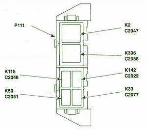 2003 Ford Ranger Auxiliary Relay Fuse Box Diagram
