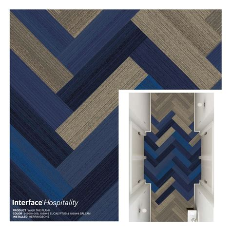 interface walk  plank carpet tile herringbone corridor