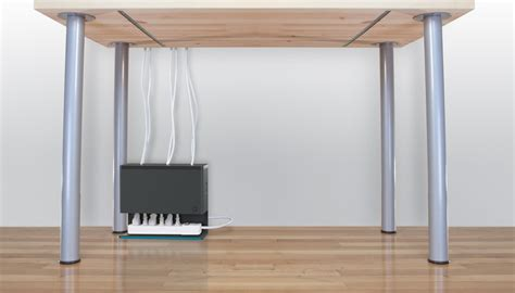 best under desk cable management plug hub simplifies under desk power cable management tested
