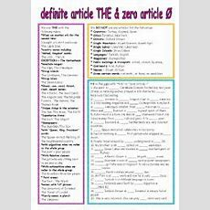 English Exercises The Definite Article ´the´