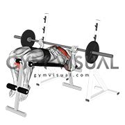 Decline Bench Grip Triceps Press by Barbell Grip Decline Bench Press