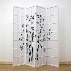 Zen, Garden, Room, Divider, White, 4, Panel