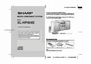 Sharp Xl  Operation Manual  U2014 View Online Or Download Repair Manual
