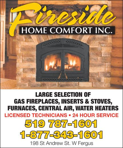 home comforts inc trane central air conditioning heating fireside home