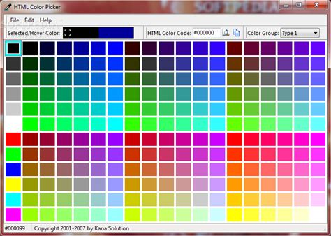 html color picker from image html color picker