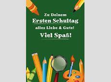 Zu Deinem ersten Schultag Einschulung Echte Postkarten