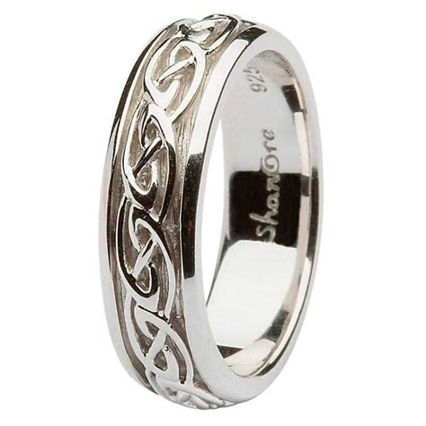 celtic wedding ring silver celtic knot wedding ring