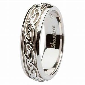 ladies silver celtic knot wedding ring With silver celtic wedding rings