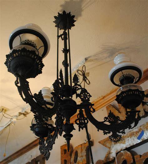 Cast Iron Chandelier by Antique Chandelier Cast Iron Kerosene To