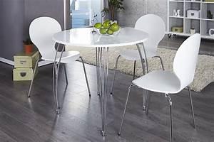Runder Esstisch Weiß : stilvoller runder esstisch arrondi wei chrom 90cm konferenztisch riess ~ Orissabook.com Haus und Dekorationen