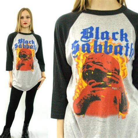 vintage  black sabbath born    raglan  sl