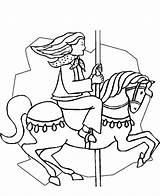 Coloring Fair Pages Printable Fun Park Amusement Carousel Horse Circus Carnival Activities Sheets County Kermis State Fairs Coloring2print sketch template
