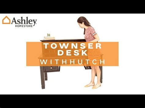 townser home office desk with hutch townser home office desk with hutch ashley furniture