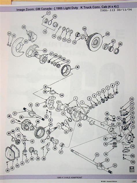 dana  front axle parts diagram automotive parts