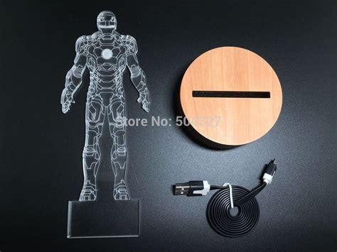iron man table l iron man suit 3d illusion led bulbing table l night