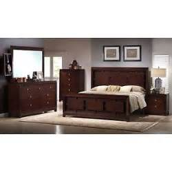 6 piece cherry king bedroom set bed 2 nightstand chest of