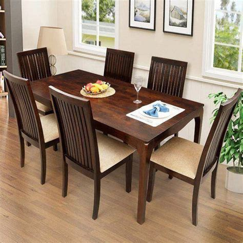 Dining Room Set For 6 by Ethnic Handicrafts Elmond 6 Seater Dining Set Including