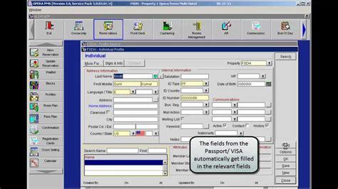 Micros Opera Help Desk by Ids Next Passport Scanning Solution Opera Interface