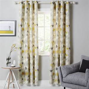 buy john lewis elin lined eyelet curtains citrine With yellow curtains grey walls