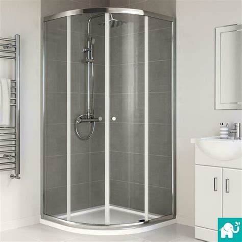 quadrant shower enclosure walk  corner cubicle glass