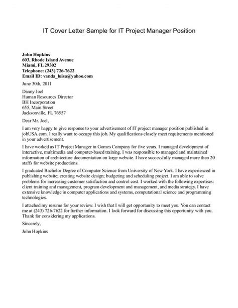 Cover Letter Of by Cover Letter Program Manager Cover Letter Writing A