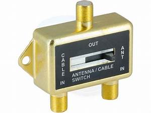 Gold Plated Ab Coax Manual Switch Splitter Antenna To Game