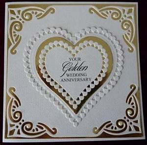 handcrafted by helen 3 golden wedding anniversary cards With images of golden wedding anniversary cards