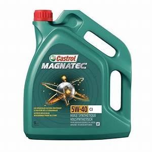 Huile Castrol 5w40 : huile moteur castrol magnatec 5w40 c3 essence et diesel 5 l ~ Medecine-chirurgie-esthetiques.com Avis de Voitures