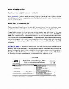 Irs tax extension form 4868