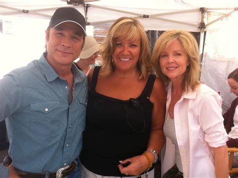 clint black and hartman sandra montgomery clint black lisa hartman on the set of flicka country pride 2011 sandra