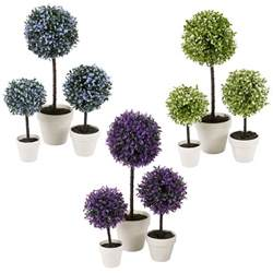 decorative artificial outdoor ball plant tree pot colour small medium large ebay