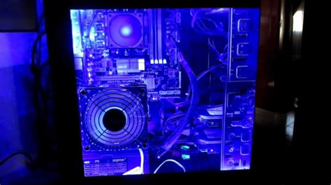 best pc case lighting acrylic side panel window with blue led lights mod case