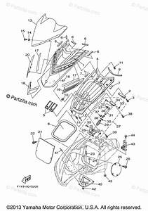 Yamaha Waverunner 2008 Oem Parts Diagram For Engine Hatch