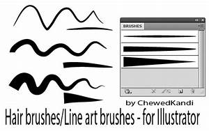 Hair Line Art Brushes For AI By ChewedKandi On DeviantArt