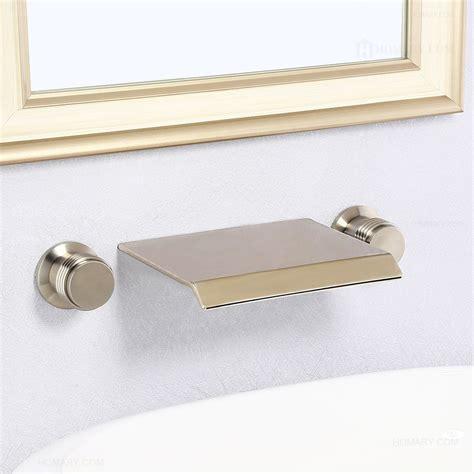 moda waterfall brushed nickel double handle wall mounted