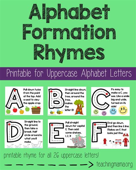 alphabet formation rhymes teaching mamas posts