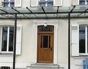 Marquise ou auvent de porte pontault combault dans la for Porte de garage enroulable jumelé avec reelax tordjman