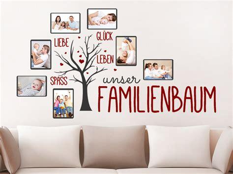 Wandtattoo Mit Fotorahmen by Wandtattoo Unser Familienbaum Mit 7 Fotorahmen