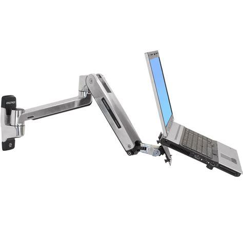 laptop desk mount arm ergotron lx sit stand laptop wall mount arm