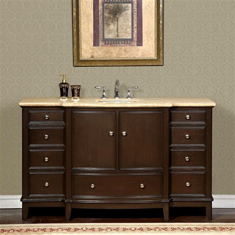 60 inch vanity cabinet single sink 60 inch travertine stone counter top bathroom single sink